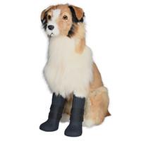 ingrosso scarpe da compagnia cane rosso-Estrella Dog Shoes Pet Rain Boots per cani di media taglia Anti Skid e Snow Prevention 4 Taglie Red Blue Black Colors Supply