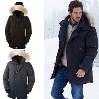 casacos longos venda por atacado-Mens marca de luxo de inverno pato penas zipper casaco longo comprimento quente mulheres com capuz para baixo jaqueta frete grátis