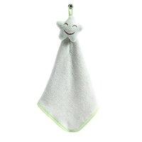 serviettes de toilette mignonnes achat en gros de-Mignon bébé serviette de bain bébé serviettes de bain en peluche douce bande dessinée animal essuyer pendaison serviette de bain pour enfants salle de bain serviettes de toilette