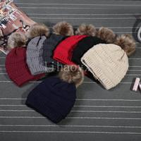 örme şapkalar toptan satış-Yeni 2017 kadın moda örgü şapka sonbahar ve kış erkek sıcak şapka CC Skullies marka Beanmao M047