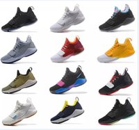 brand new d3772 d49ae Mens Athletic Paul George PG 1 TS Prototype EP Ferocity Zoom Low Cut Basketball  Shoes Adult Shining Sport Trainer Sneakers 40-46