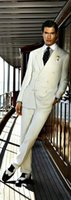 Wholesale pant suit prices resale online - Price Elegant Pure White Wedding Tuxedos Groom Suits Business Suits Two Pieces Custom Made Coat and Pants