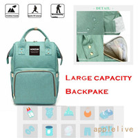 Wholesale Diaper Backpack Wide Open Design and Waterproof Fabric Multi Function Travel Backpack Nappy Bags Nappy Tote Bag for Baby Care Large Capacity