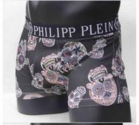 Wholesale hot men underpants - best quality Vogue Men Underwear Boxers Shorts Luxe Marque Skull Design Homme Ceinture Sexy Homme Underpant 6 pecs hot