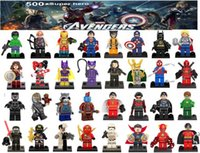 Wholesale Dc Toys - DC Marvel Super Heroes Batman Woderwoman Harley Quinn Avengers Balack Panther Hulk Deadpool Logan Thor Building Blocks Sets Kids toy Bricks