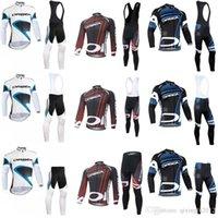 bisiklet çorabı takımları toptan satış-2018 Takım ORBEA bisiklet forması uzun kollu + önlük pantolon setleri tayt bisiklet giyim giysi Uzun kollu bisiklet takımları F2124