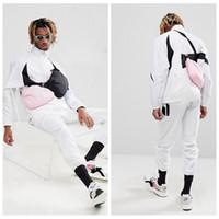 lose großes sweatshirt großhandel-18SS BIG SW00SH Mode Half Zip Pullover Jacke Sweatshirt Frauen Männer Paar Outfit Casual Lose Hip-Hop Streetwear Jacken HFLSJK094