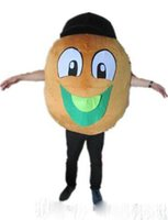 vizyon maskot kostümleri toptan satış-Fabrika satış sıcak Iyi vizyon ve iyi Havalandırma bir kivi meyve maskot kostüm yetişkin için büyük ağızlı giymek