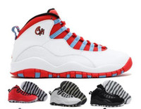 Wholesale Chi Flat - Men Basketball Shoes Air Retro 10 Paris NYC CHI Rio LA Hornets City Pack Vivid Pink 10s Men Basketball Shoes Sneakers Retro X Sports Shoes