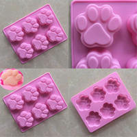 Wholesale Rubber Paws - Baking Mould Puppy Footprint Silicone Cat Paw Handmade Soap Pink Kitchen Tool Cake Mold High Quality 2 2xg V