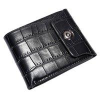 tasche bifold clutch card tasche großhandel-Männer Leder Clutch Taschen Brieftasche ID Bifold Business Credit Damen Geldbörsen Solid Color Card Taschen Zipper Clutch Coin