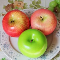 ingrosso mele verdi artificiali-New Red Green Apple Model Artificial Fruits Simulazione Mela Home Decor Matrimonio Decorazioni per feste Artigianato fotografia Puntelli