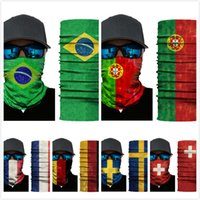 Wholesale 3d printed ring - National Flag 3D Headscarf Desert Windproof Printed Sunscreen Scarves Versatile Face Mask Magic Cycling Scarf 7 Color