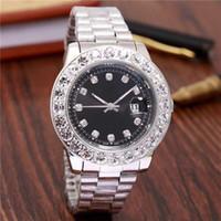 relojes de lujo analógico grande al por mayor-44 MM Gran diamante relogio masculino hombres marca de lujo reloj de pulsera deportivo analógico fecha de visualización reloj de cuarzo de los hombres reloj de negocios reloj de los hombres