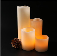 Wholesale real wax flameless candles for sale - Group buy Real wax remote controlled electric candle wedding decoration sets of electric candle lamp Favors
