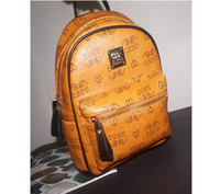 Wholesale American Style School Bags - High-end quality new arrivel designer fashion korean men school backpack hot selling brand Punk rivet women shoulder daypack student bags