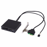 Wholesale pci express hub for sale - Group buy 3 inch PCI Express to USB Internal Combo Front Panel Port Hub All in Internal Card Reader Adaptor