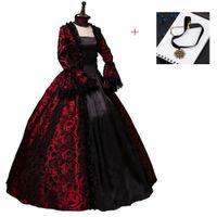 victorian elbiseler belle toptan satış-Rönesans Victorian Elbise Balo Vampir Cadılar Bayramı / Southern Belle Kostüm Tarihsel Sahne Giyim Y1890805