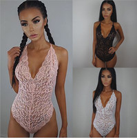 Wholesale tight white lace dresses - Sexy Lingerie Lace Dress Tight Fitting Cothes Pajamas Underwear Pink Black And White Colors