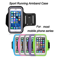 Wholesale Neoprene Sport Arm Bands - Sport Running Armband Case Workout Holder Pouch Antistatic Waterproof phone Bag Cover For iphone Cell Mobile Phone Arm Bag Band