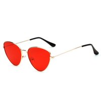 7fab85f7bec Cat Eye Sunglasses Women Vintage Ray Retro Ladies Brand Designer Black Red  Color Pink Mirror Clear Lens Sun Glasses For Women
