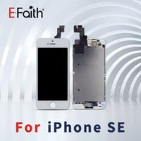 volle schwarze platte großhandel-Schwarzweiss für iPhone 5S / SE volles komplettes LCD mit Digitizer-Rückseiten-Platte + Hauptknopf + Frontkamera-vollständiger Versammlung Freies Verschiffen