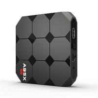 телешоу google оптовых-Новое поступление Оригинал A95X R2 Google Voice Control Android 7.1 TV Box 2018 Новые поступления S905W Smart TV Streaming Box System