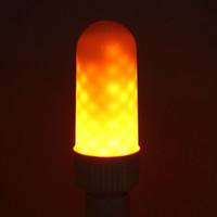 Wholesale Fire Projector - LED Flame Light E27 Bulb Vivid Dynamic Fire Effect Flickering Emulation Vintage Atmosphere Lamp Decorative Light
