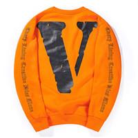 ingrosso pigiama invernale di pile morbide-New Winter Felpe Uomo Big VSweatshirt Hip Hop Brand Purpose Tour Skateboards Felpe con cappuccio spesso