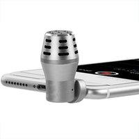 micrófono iphone5 al por mayor-Micrófono de teléfono inteligente de alta calidad de grabación en vivo de entrevista de video Mic venta caliente para Apple Android / iPhone5 / 6