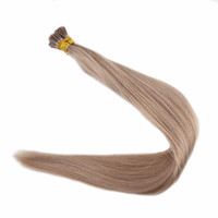Wholesale Hair Extensions 1g Strand - Ash Blond #18 Pre bonded Keratin I Tip Hair Extensions 1g Per Strand 50g 100g Brazilian Human Hair Stick Tip Hair Extensions