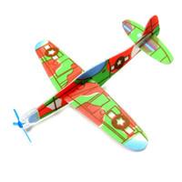 uçan kayıklar oyuncakları toptan satış-Flaş Fiyatları Toptan Bulmaca Sihirli Uçan Planör Uçak Düzlem Köpük Geri Uçak Çocuklar Çocuk DIY Eğitici Oyuncak