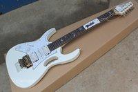 guitarras zurdas de calidad al por mayor-Accesorios de calidad superior zurdos calientes de Corea Ibz JEM 7V Guitarra eléctrica blanca Steve Vai DiMarzio Floyd Rose envío gratis