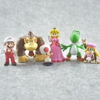 Wholesale miniatures for model - Model Toy Super Mario Bros Luigi Garage Kit Doll Automobile Ornament Originality Children Day Miniatures Gifts For Kid 22lt W