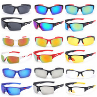 Wholesale Sunglasses Outdoors - Fashion Sunglasses Outdoor Sports men Sunglasses UV 400 Lens for Fishing Golfing Driving Running Eyewear GGA243 150PCS