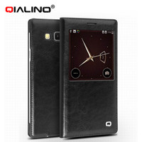celular fino venda por atacado-Para samsung galaxy a7 case flip capa de couro casos de telefone móvel ultra fino para galaxy a7 com cartão titular