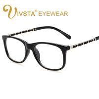 ingrosso grandi occhiali quadrati-IVSTA Brand Designer Catena d'oro Decorazione Grandi donne Occhiali Quadrati Occhiali trasparenti Occhiali trasparente con montatura a vista