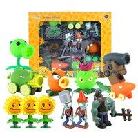 ingrosso bambole giocattolo zombie-Plants vs Zombies Action Figure Giocattoli Shooting Dolls Gargantuar 12-in-1 Set in confezione regalo