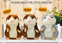 Wholesale Hamster Cat - GOOD Talking Hamster Plush Toy Cute Speak Sound Record Hamster 15cm hamster pet talking record Mouse Plush Kids Toy KKA1507