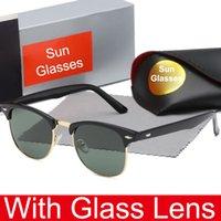 lunettes de sport de vélo achat en gros de-Lunettes de soleil populaires en verre pour hommes et femmes Sports de plein air Vélo Lunettes de conduite en verre Lunettes de soleil de marque