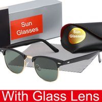 Wholesale bicycle sports sun glasses resale online - Popular Glass Lens Sunglasses for Men and Women Outdoor Sport Bicycle Glass driving Sun glasses Brand Designer Sunglasses Quality