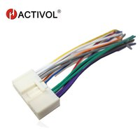 Wholesale radio wire harness - Car Radio Stereo Male ISO Plug Power Adapter Wiring Harness Special for Mazda 2 Mazda 3 5 6 ISO harness power cable GPS