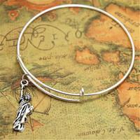 Wholesale american liberty - 12pcs lot Statue of Liberty bracelet Charm bangles adjustable New York Jewelry Manhattan