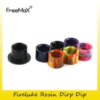Wholesale Genuine Caps Wholesale - Authentic FreeMax Fireluke Resin Drip Tip Plain Black Colorful Tips Mouthpiece Cap For Original Fireluke Tank Atomizer 100% Genuine 2257020
