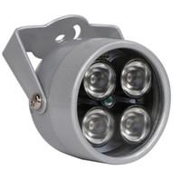 ir levou câmera matriz venda por atacado-CCTV LEDS 4 matriz IR led iluminador Luz CCTV IR Infravermelho À Prova D 'Água Night Vision Para Câmera De Segurança CCTV câmera ip