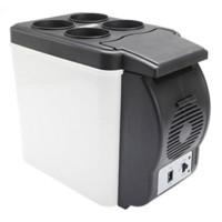 resfriamento do compressor venda por atacado-12 V Capacidade Do Compressor de Refrigerador Do Carro Portátil 6L ABS Cooler Warmer Built-in Ventiladores de Dissipação de Calor Para O Calor Leite E Chá