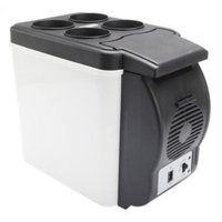 compresseur de refroidissement achat en gros de-12V Portable Capacité De Compresseur De Réfrigérateur De Voiture 6L ABS Refroidisseur De Chaud