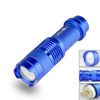 Wholesale cree flashlight online - Mini Aluminum Colors Flash Light W LM CREE Q5 LED Camping Flashlight Torch Adjustable Focus Zoom Waterproof Flashlights Lamp