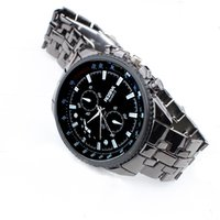 ingrosso orologio al quarzo boutique-Drop Shipping Watch Boutique in acciaio inossidabile al quarzo uomo Business Sport Watch Bracciale gioielli Reloj veloce Invia spedizione gratuita c919
