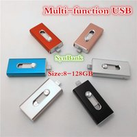 pad pod großhandel-U36 I-FlashDrive USB-Stick HD Pendrive Lightning-Daten für 3 in 1 für Android / Telefon / Pad / Pod, USB-Schnittstelle Pen Drive für PC / AC 32 GB
